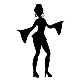 b84ce5fd8 Disco Dancer Silhouette 02 Stencil | Free Stencil Gallery - ClipArt Best -  ClipArt Best