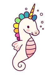 Cute unicorn with purple mane simple cartoon vector illustration. Simple flat line doodle icon contemporary style design element isolated on white. Magical creatures, fantasy, fairy, dreams theme. - Buy this stock vector and explore similar vectors at Adobe Stock | Adobe Stock