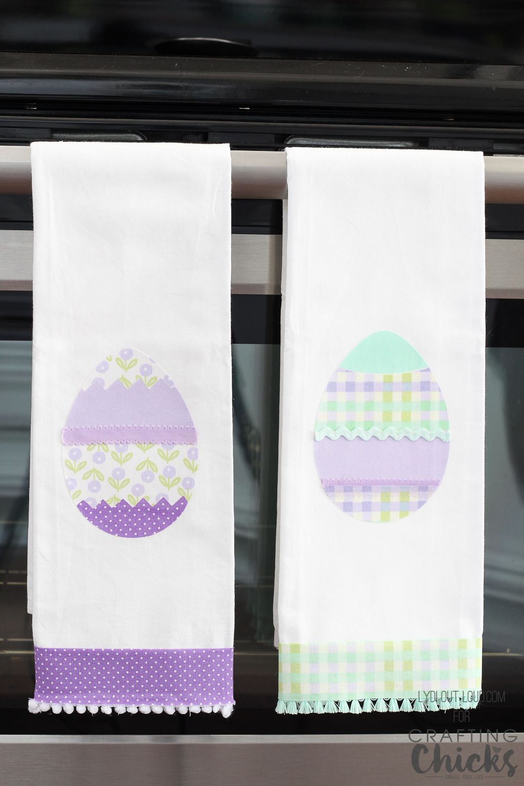 Diy No Sew Easter Kitchen Towels Kitchen Towels Diy Holiday