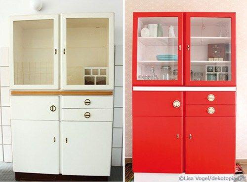 Aufgemöbelt 50er Jahre Küchenvitrine