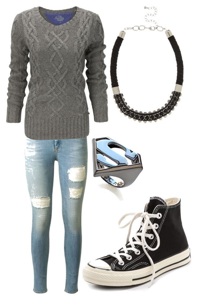 """Untitled #294"" by rosiered-dx ❤ liked on Polyvore featuring rag & bone, Superdry, Converse, Noir and River Island"