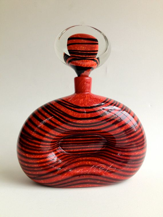 Vintage Large Perfume Bottle Flacon by Ioan Nemtoi by CrolAndCo via etsy