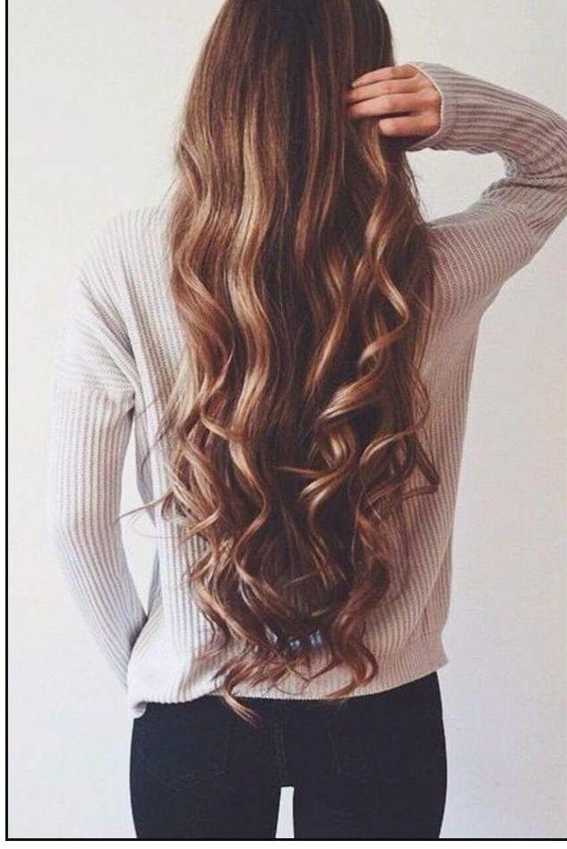 Картинка девушки с длинными русыми волосами