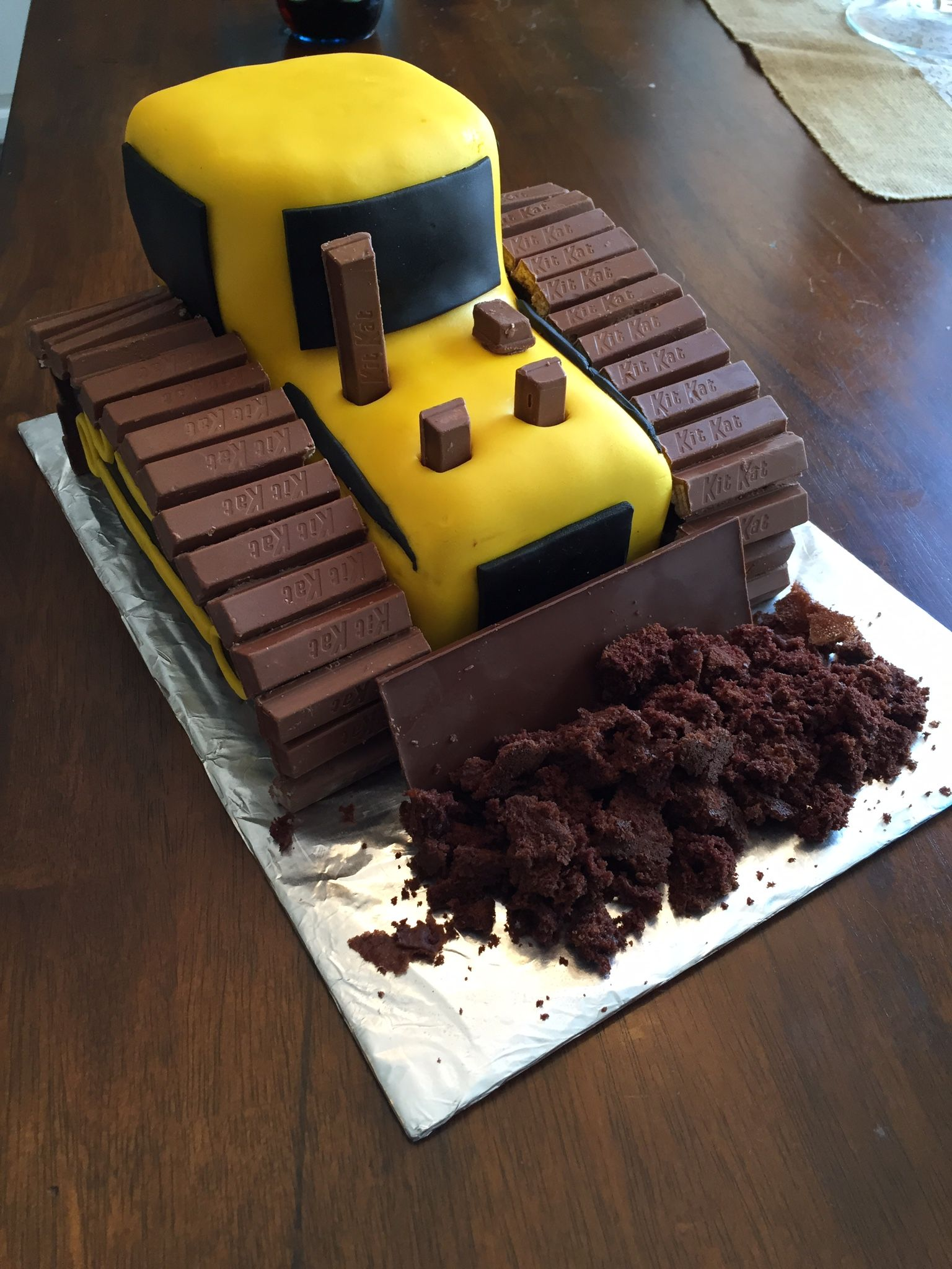 Awesome Bulldozer Cake Bulldozer Cake Digger Cake Construction Cake Personalised Birthday Cards Beptaeletsinfo
