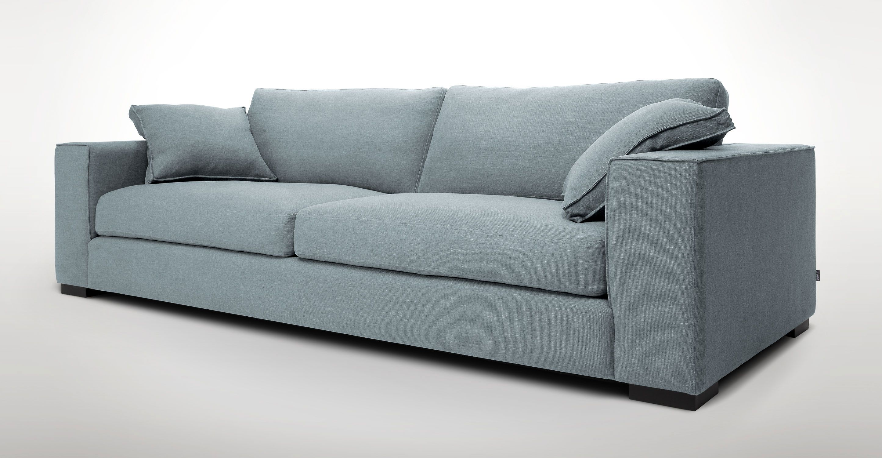 Blue Sofa With Solid Wood Legs | Article Stika Modern Furniture