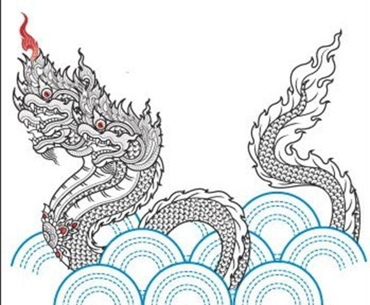 Naga Tattoo In Yant Style Thai Art Modern Thai Art Tattoos Art