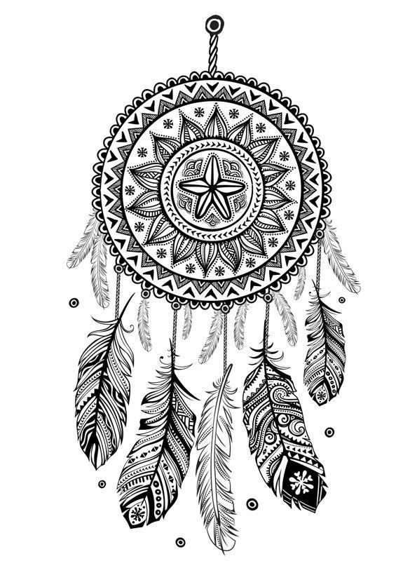 16 coloring pages of Dreamcatchers on http://Kids-n-Fun.co.uk. On ...