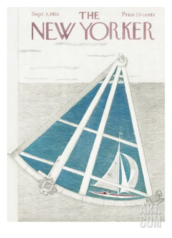 The New Yorker Cover - September 3, 1955 Premium Giclee Print by Ilonka Karasz at Art.com
