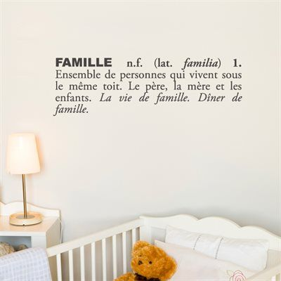 Adzif Wall Decals Sticker T3116 Frr Blabla Famille Wall Decal