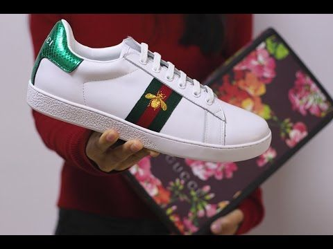 3ac92bdc422e Gucci Ace Embroidered Sneaker Low Top (White) Review Unboxing ...