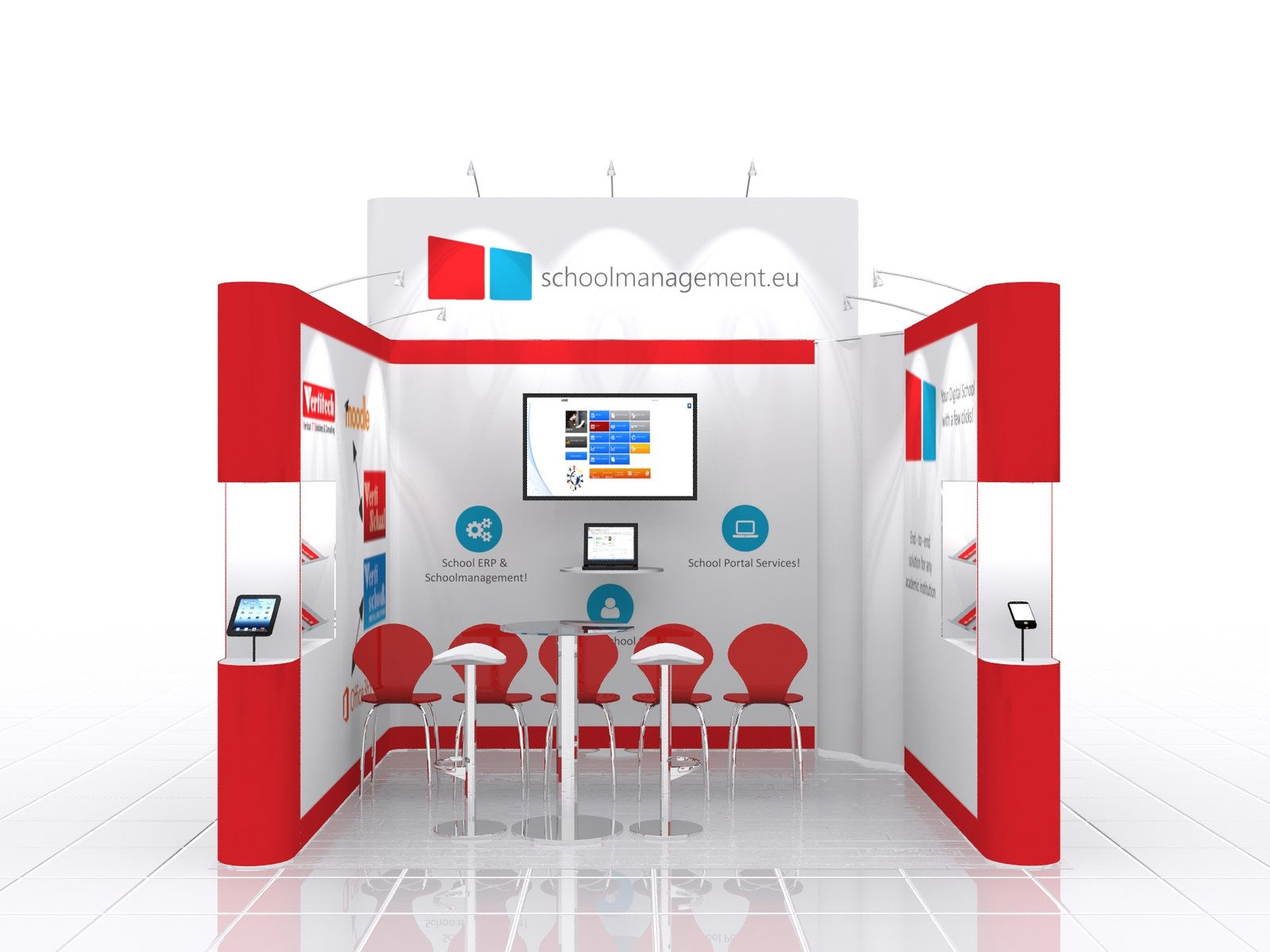 School Exhibition Stall Design : Exhibition stand design for school management small space big