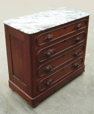 Authentic 4 Drawer Solid Wood Dresser C