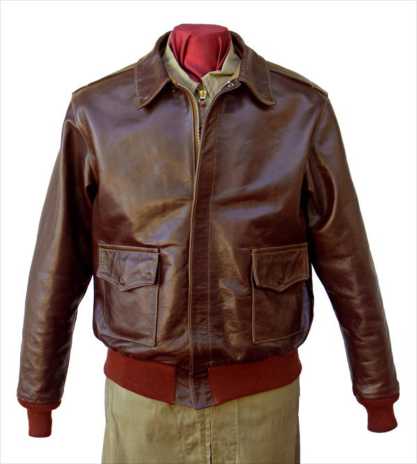 Good Wear Leather 42-18775-P Type A-2 Jacket Front View  0188da6830b0