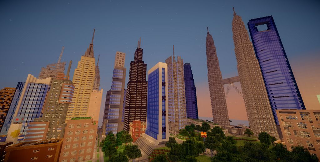 Skyscraper City Map for Minecraft 187 Minecraft Pinterest
