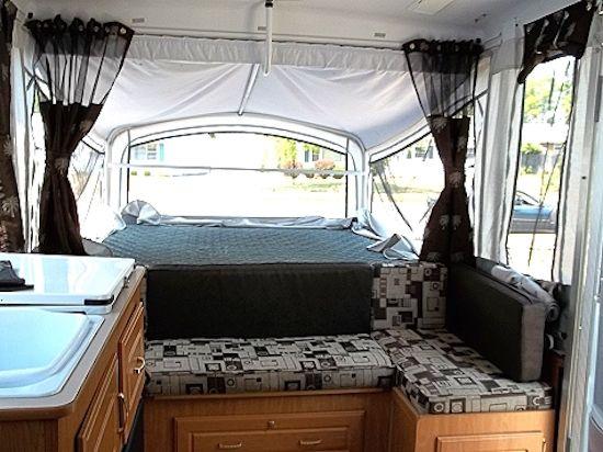 New Cushions In Pop Up Camper