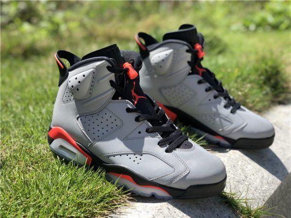847621877445 New Jordan 6 Infrared SP Reflective Silver 3M
