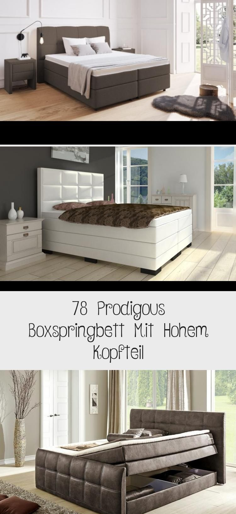 78 Prodigous Boxspringbett Mit Hohem Kopfteil With Images Home Decor Home Decor