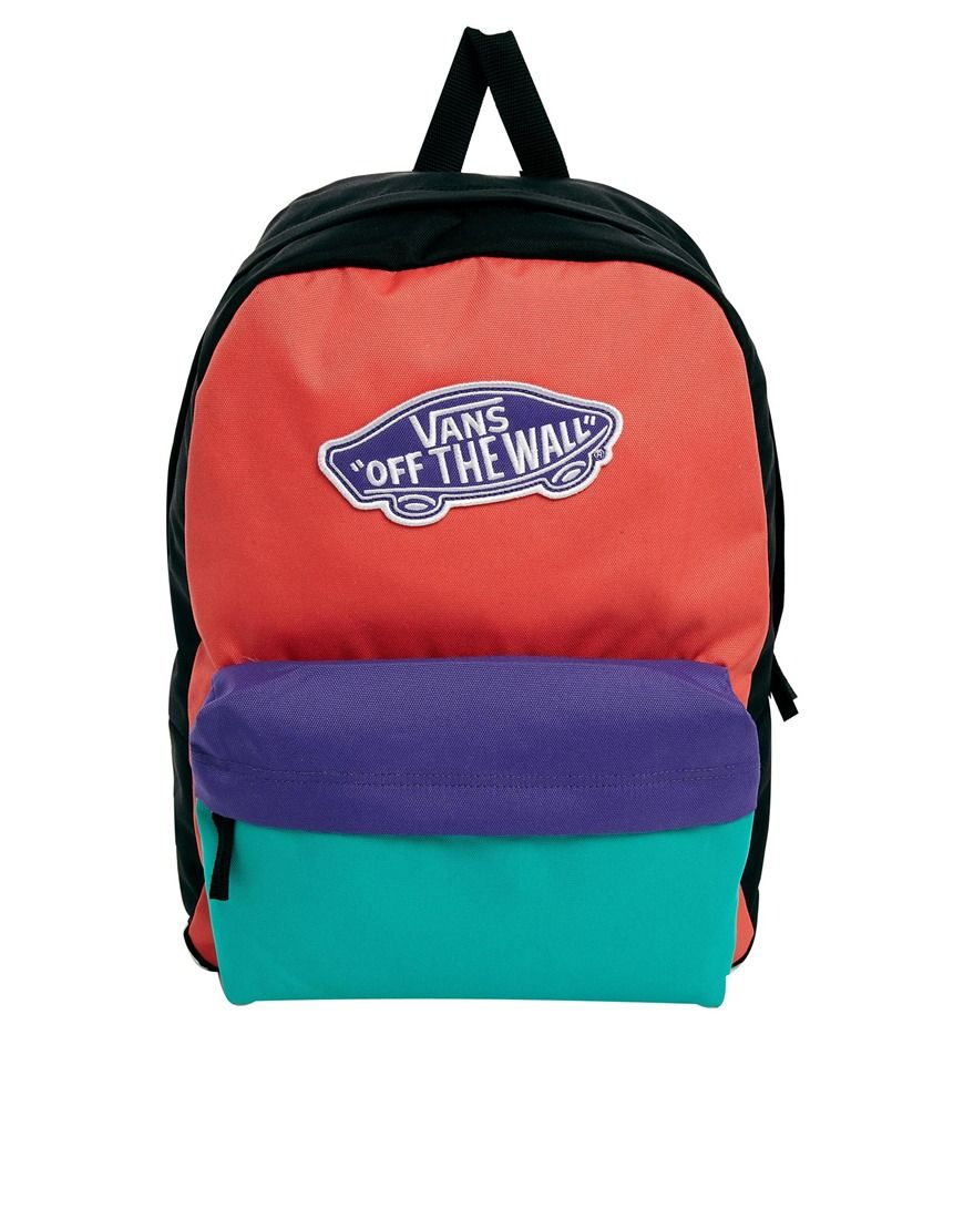 99e6ac99358 Vans Realm Backpack in Colour Block