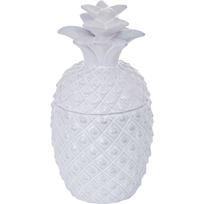Deartis white ceramic pineapple storage jar tk maxx interior deartis white ceramic pineapple storage jar tk maxx reviewsmspy