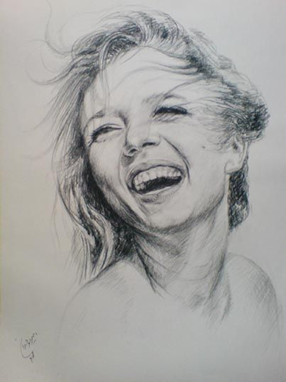 Happy Girl Girl Drawing Portrait Drawing Girl Drawing Sketches