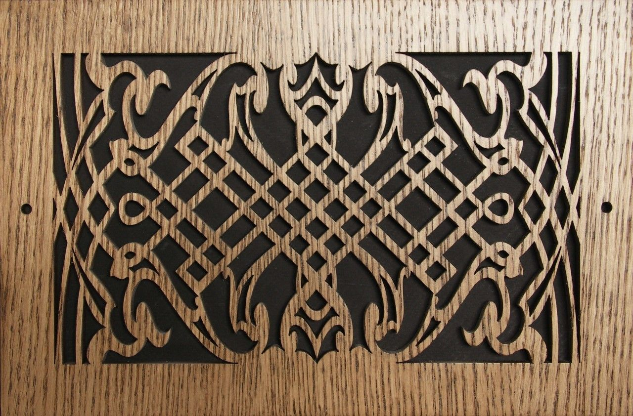 Wood Wall and Ceiling Vent Covers Pattern K Wood