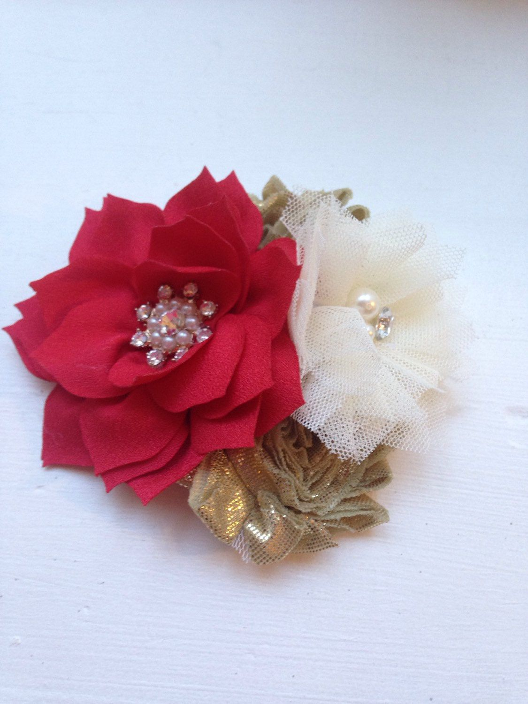 Ivory Lotus Flower Silk Flower Hair Clip