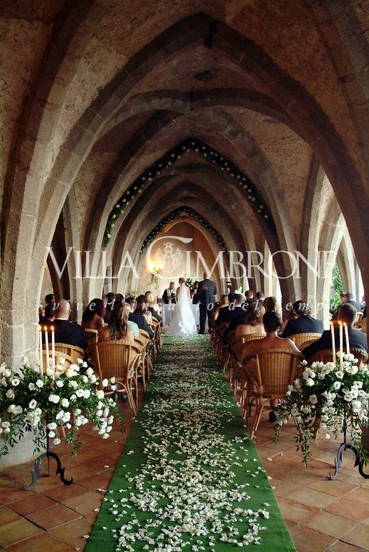 Wedding ceremony at Villa Cimbrone Ravello Italy # ...