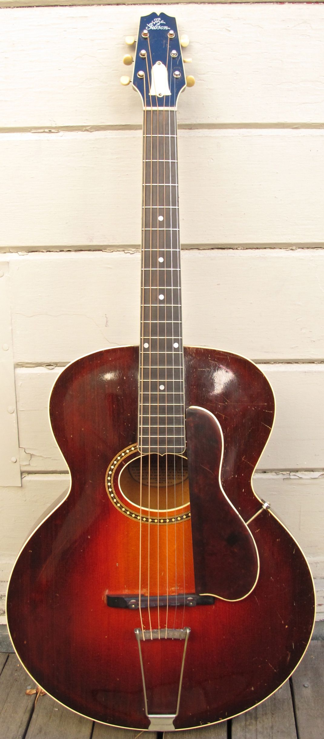 gibson l 4 archtop acoustic guitar vintage 1926 round hole archtop rare snakehead model. Black Bedroom Furniture Sets. Home Design Ideas