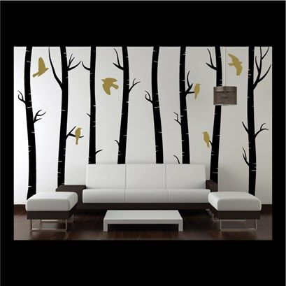 Gentil Silver Birch Tree Wall Art From Next Wall Stickers