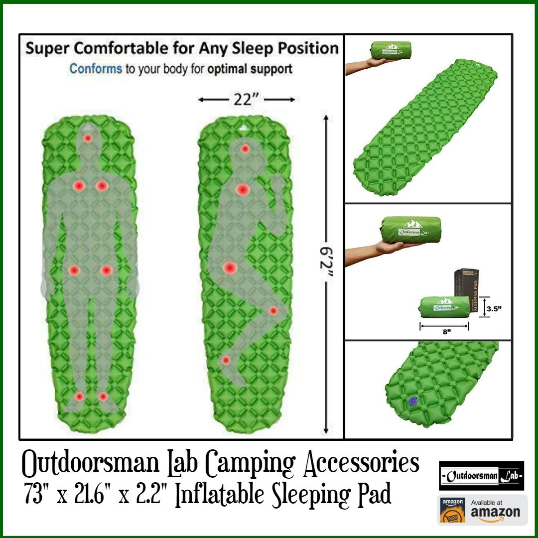 Use Our Inflating Sleeping Pad Camp Accessory Anywhere In The Great Outdoors Mat Doesn T Take Up E And Diamond Shaped Material Is