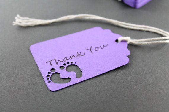 Purple Tag: Purple Thank You Tags Set Of 20