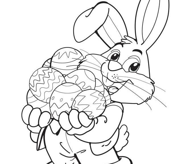 Free Printable Easter Bunny Coloring Sheet easter Pinterest