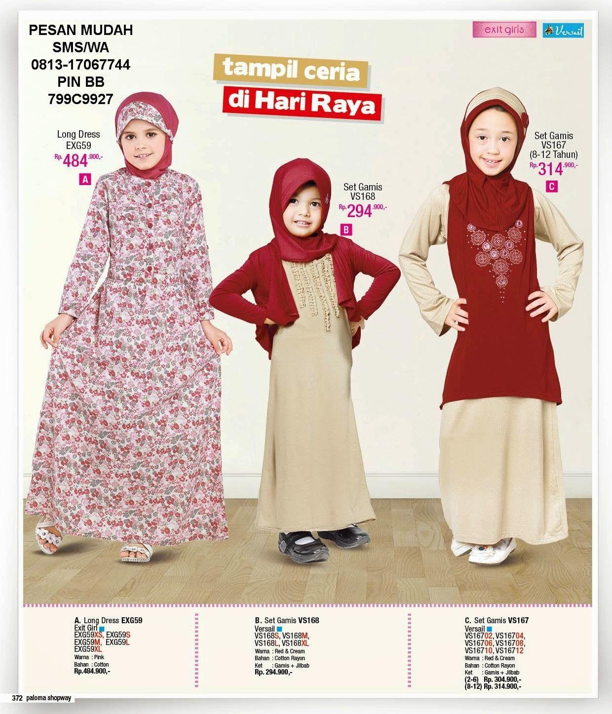 Butik Paloma Shopway Jakarta Barat Hotline 0813 17067744 Gamis Long Dress Anak Pretty Girl