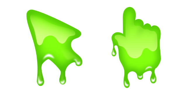 Green Slime Cursor Custom Cursor In 2021 Slime Green Custom