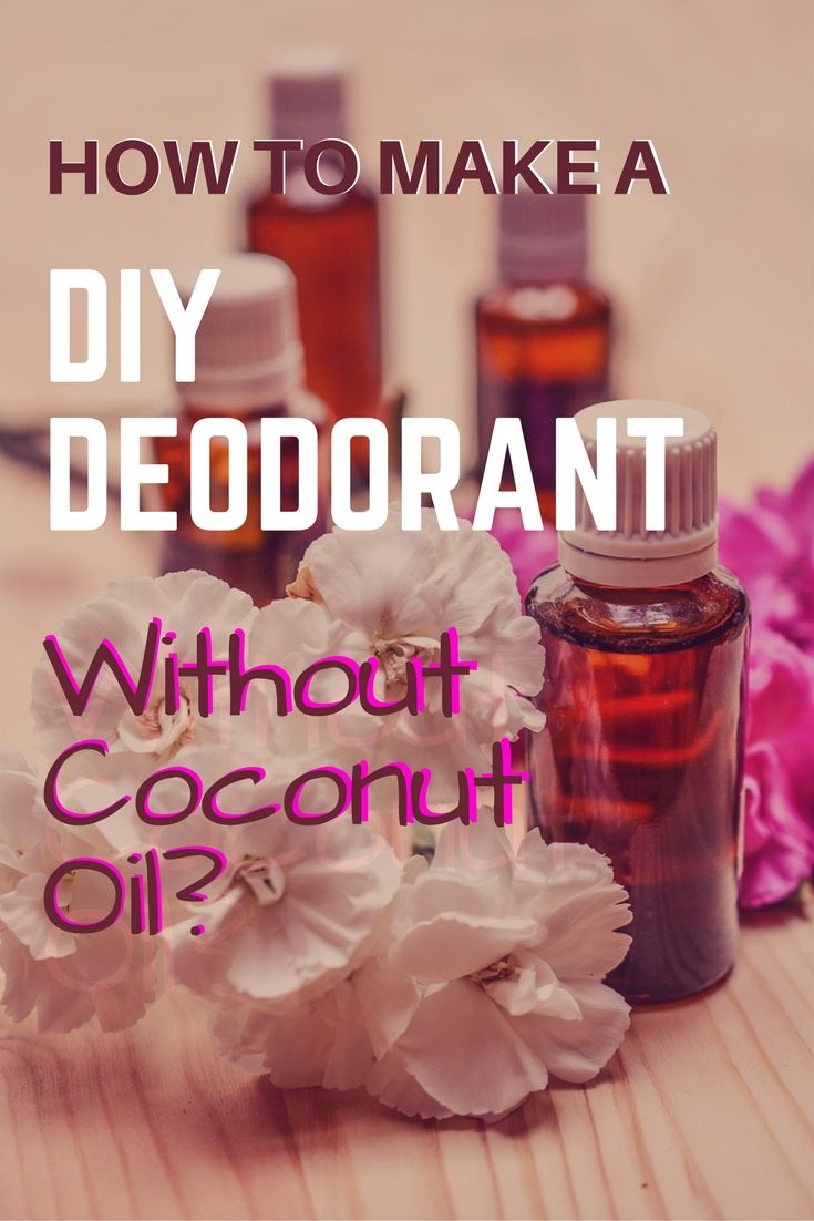 How to make an aluminum-free DIY Deodorant without Coconut Oil using essential oils.