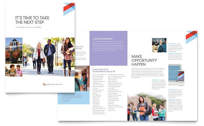 Brosur Sekolah - College \ University Brochure Template Design - free brochure templates microsoft word