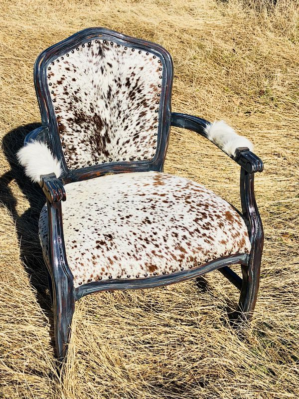 Custom Cowhide Arm Chairs for Sale in Oklahoma City, OK