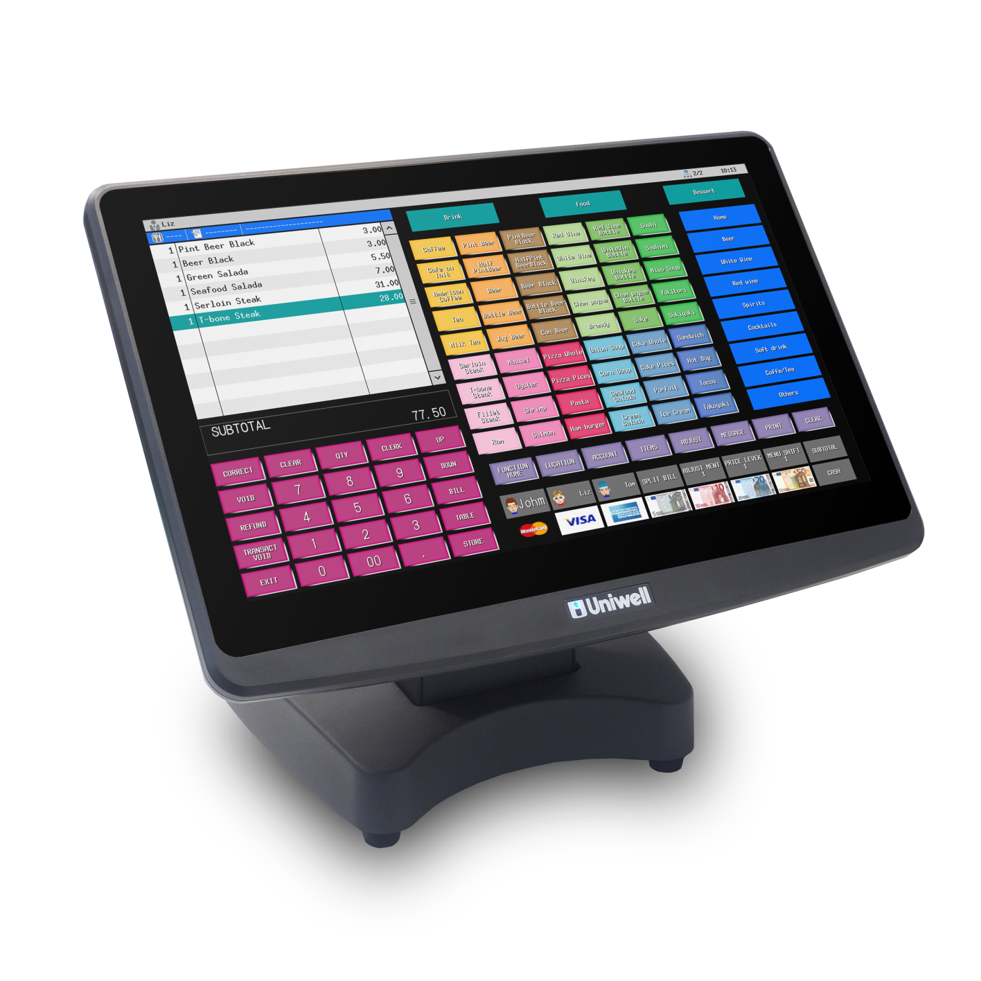 New Uniwell Hx 5500 Pos Terminal For Hospitality And Food Retail Honeywell Smart Vfd Compact Applications Cafes Restaurants Bars Bottleshops Convenience Stores Pizzerias
