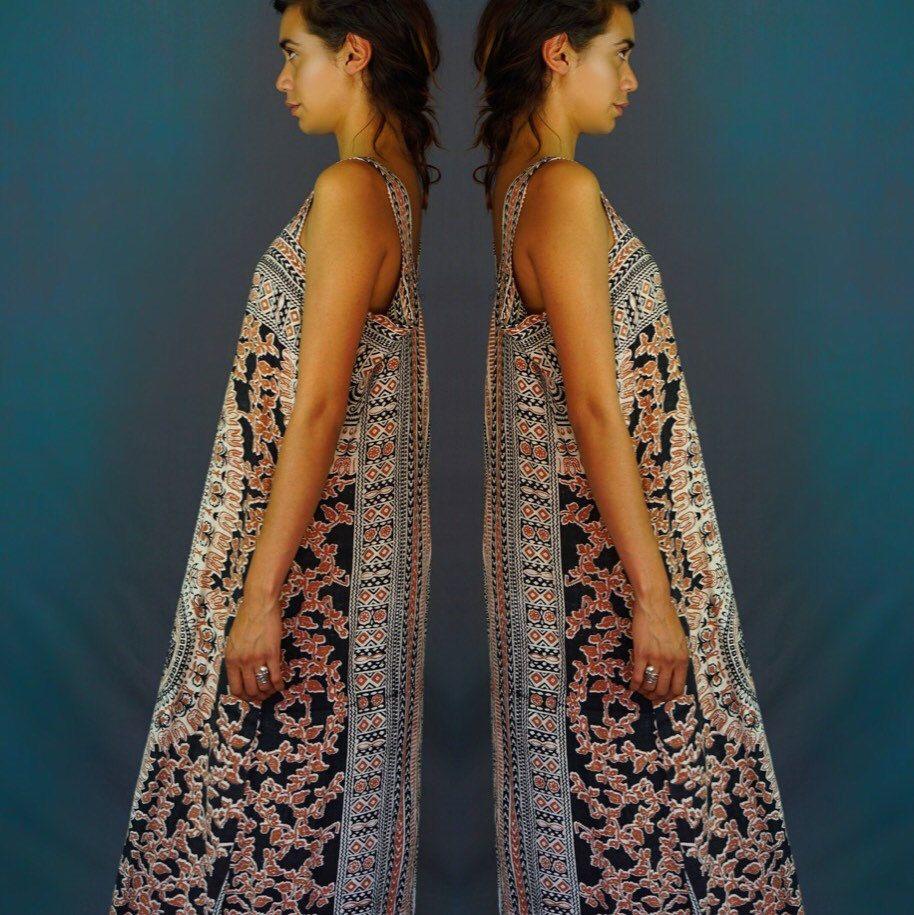S indian block print tent gown andeebird pinterest