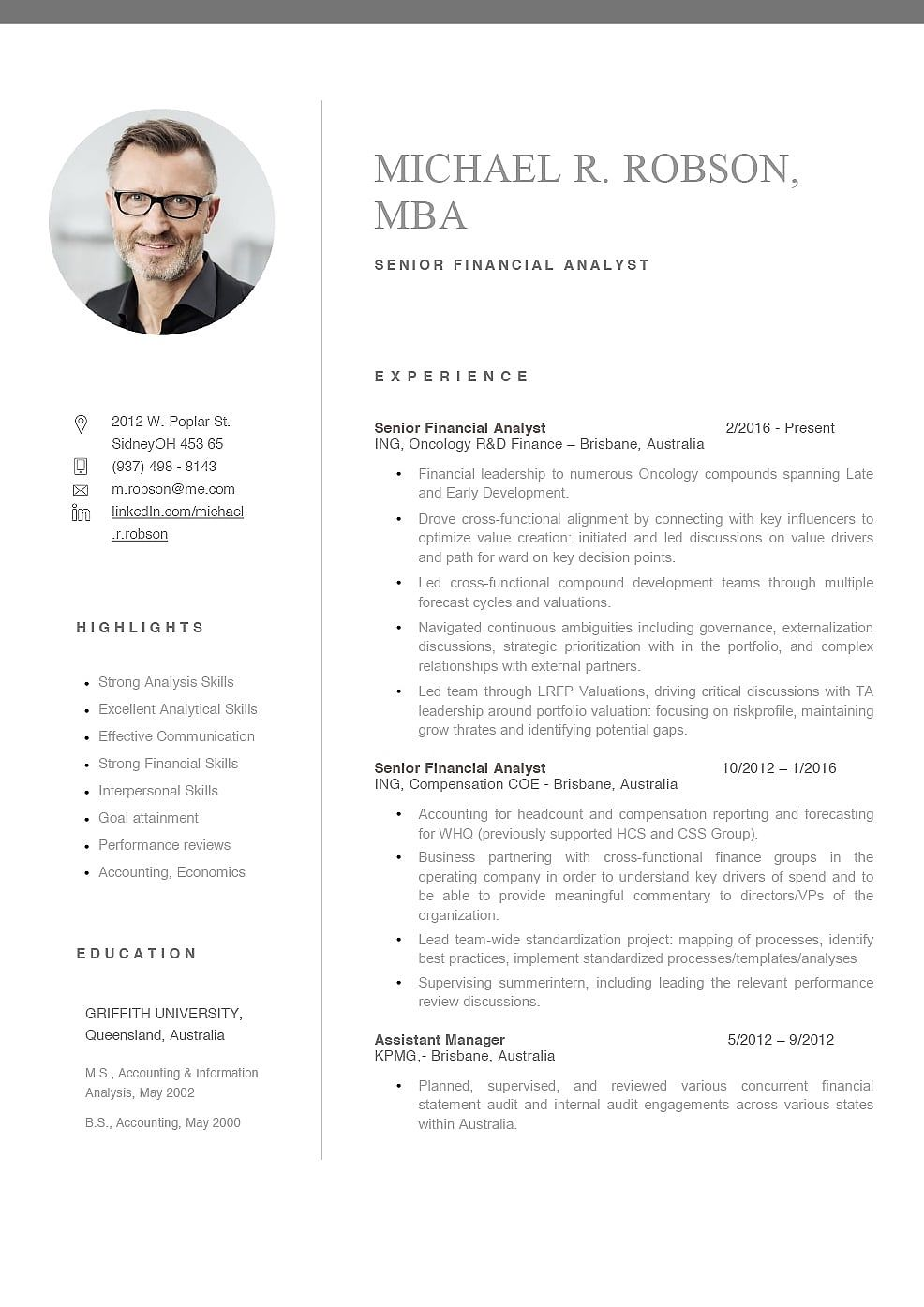 Resume Template Australia Best In 2020 With Images Basic