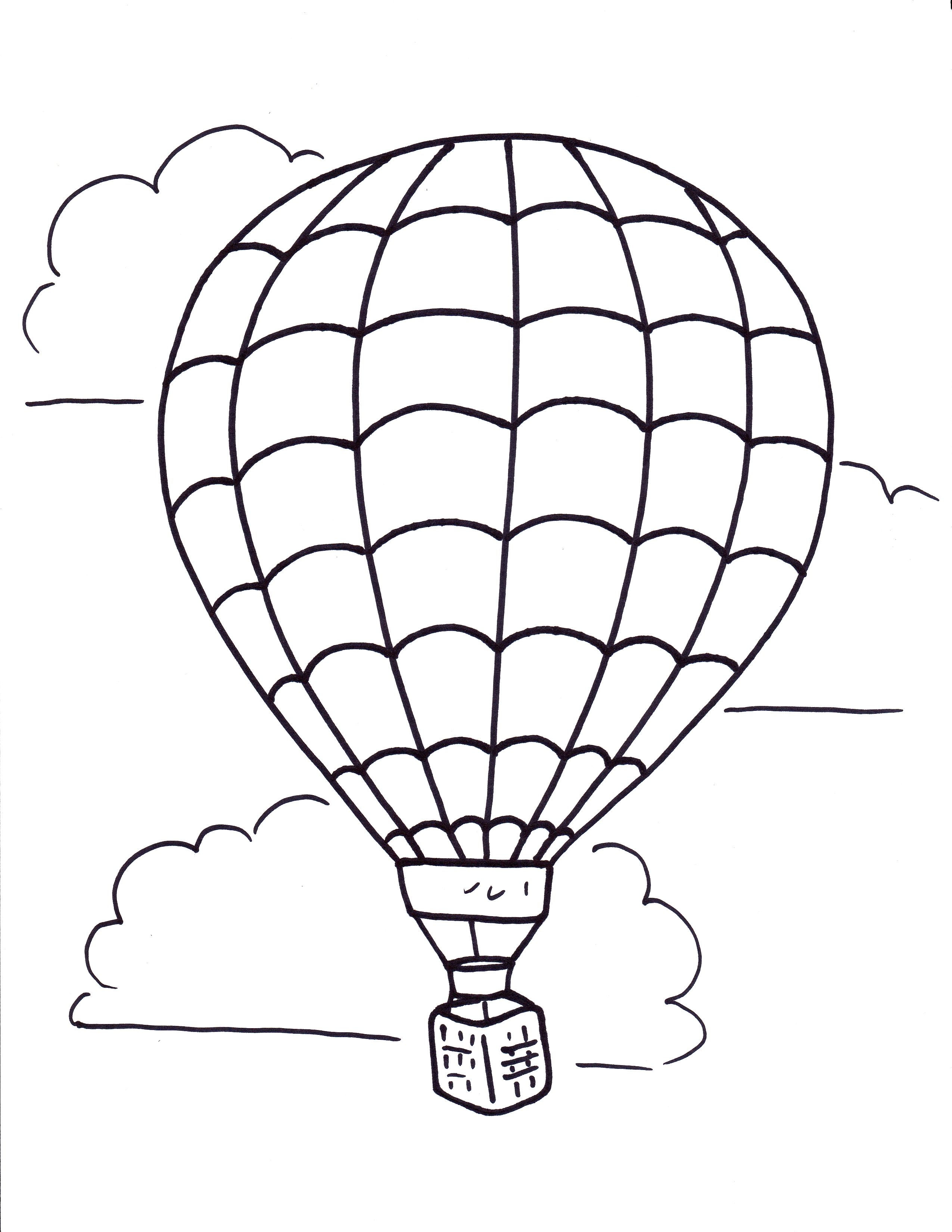 Related Hot Air Balloon Coloring Pages item-11522, Hot Air