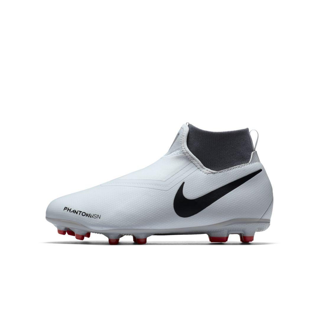 e87d8f6cb Nike Jr. Phantom Vision Academy Dynamic Fit Little/Big Kids' Multi-Ground  Soccer Cleat Size 3.5Y (Pure Platinum)