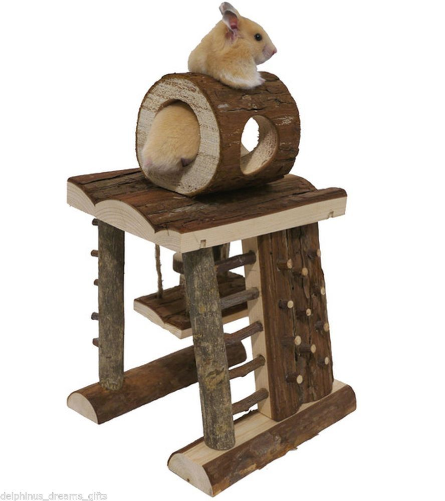 Hamster Gerbil Or Mouse Activity Climbing Tower Adventure Playground Wooden Toy Pet Corner Small Pets Hamster Accessories