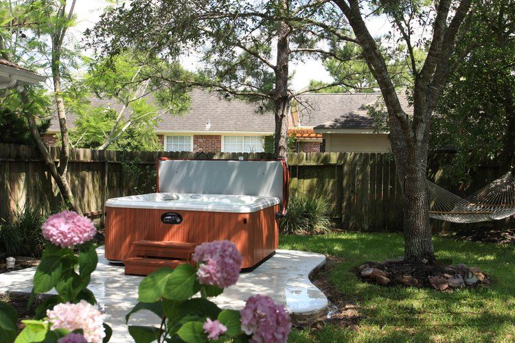 Hot Tub In Backyard Ideas hot tub landscaping privacy backyard hot tub landscaping ideas Find This Pin And More On Back Yard Hot Tub