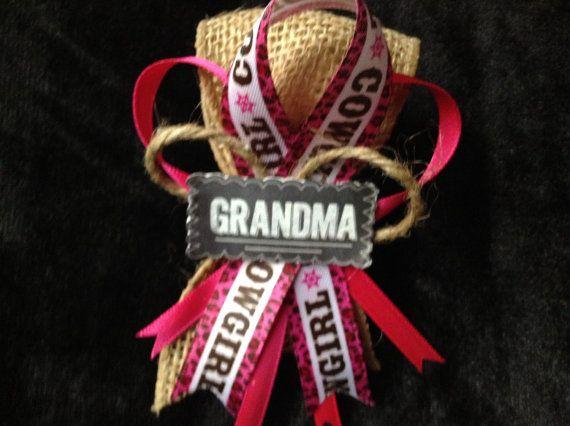 Western Baby Shower Grandma Corsage By Cutestfavors Cowboy Baby