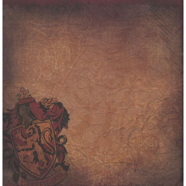 Harry Potter Gryffindor Crest 12 X 12 Double Sided Paper 095