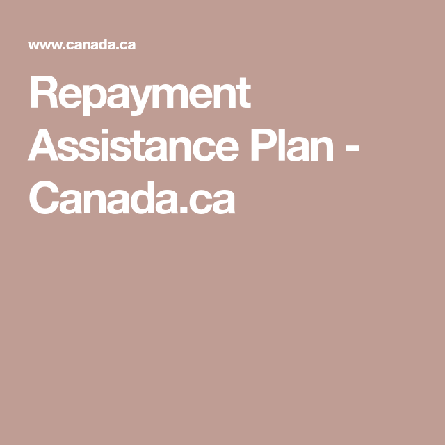 Repayment Assistance Plan Canada Ca How To Plan Repayment Assistant