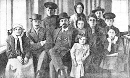 Beilis with his family A Russian Jewish man, Menahem Mendel Beilis, (1874 – July 7, 1934), was ...
