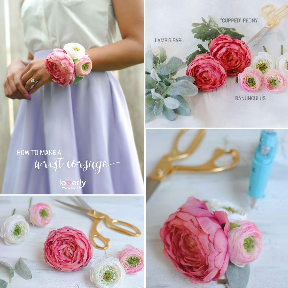 Diy Corsage Silk Flowers Wrist Corsage And Flower
