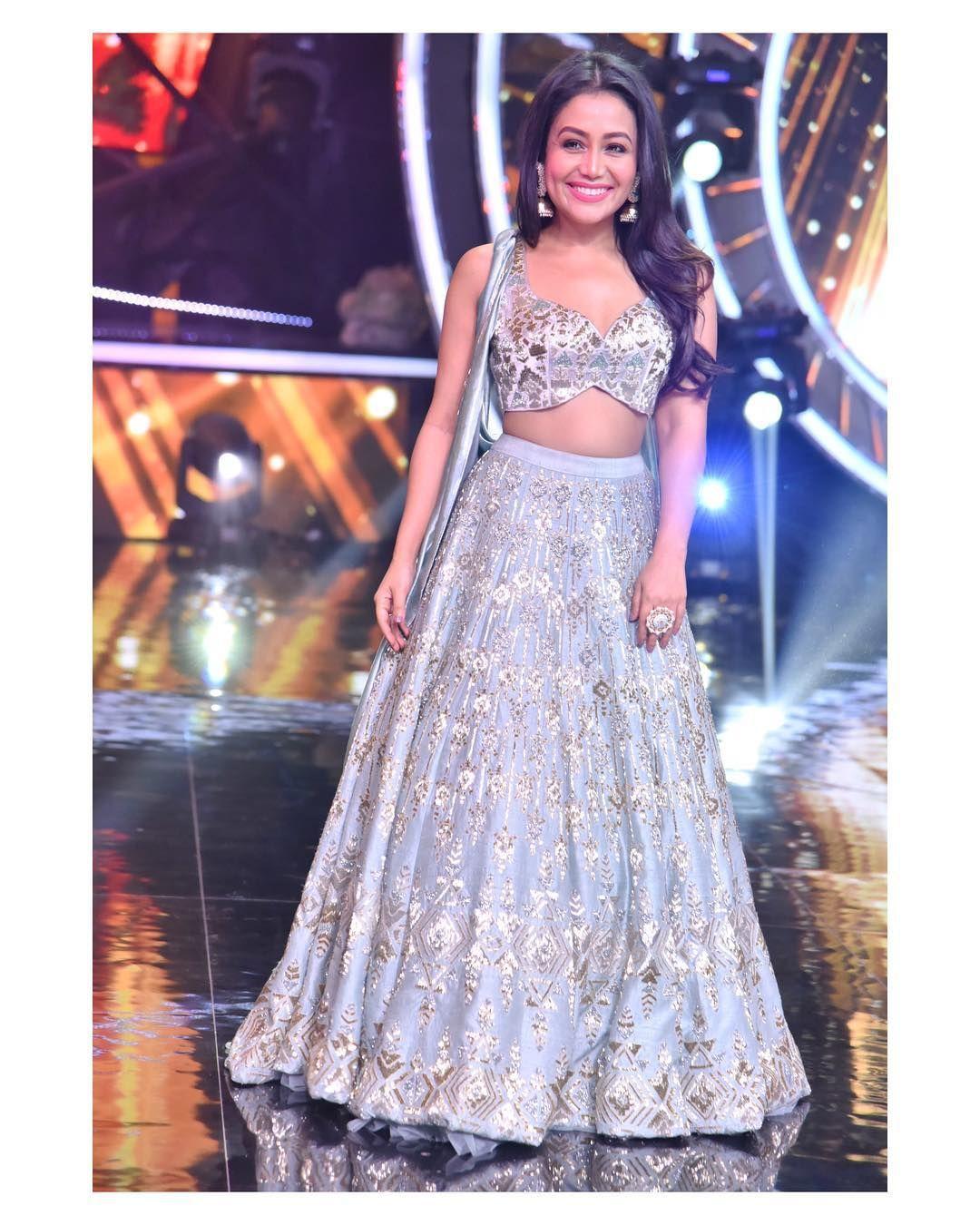 One Of My Most Favourite Looks From Indianidol Styled By Styledose1 Outfit By Kalkifashion Instagladuca Neha Kakkar Dresses Raw Silk Lehenga Lehenga